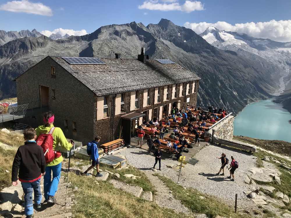Schleisspeicher wandern - Im Zillertal wandern vom Schlegeisspeicher zur Olperer Hütte