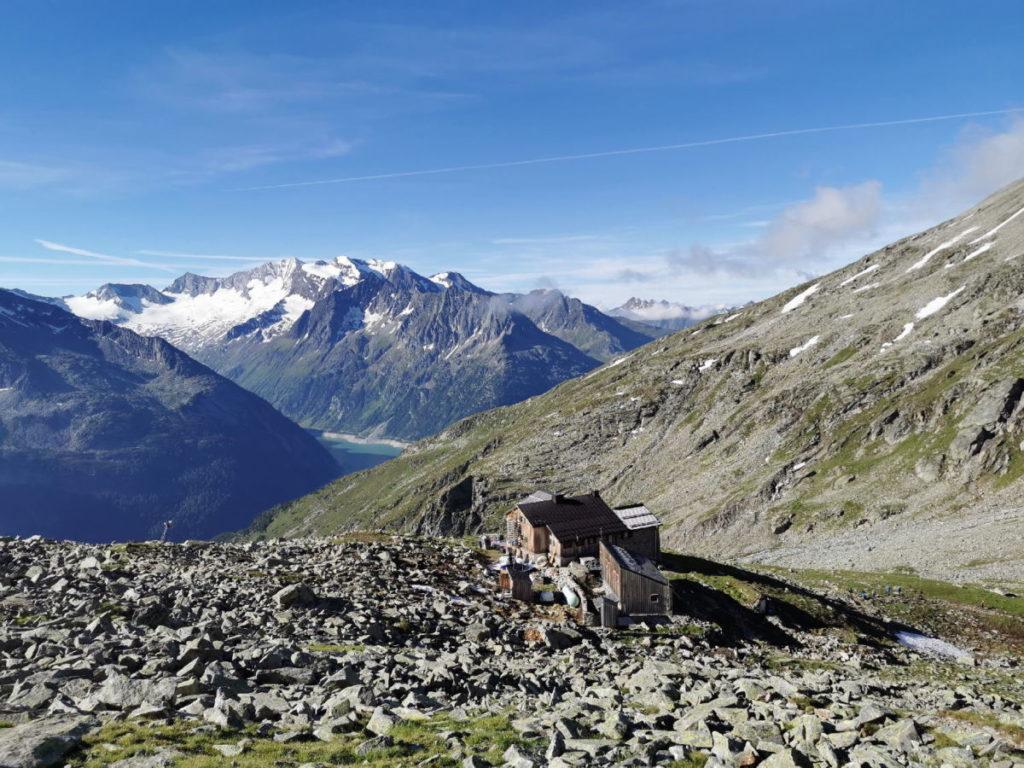 Das Friesenberghaus von oben gesehen