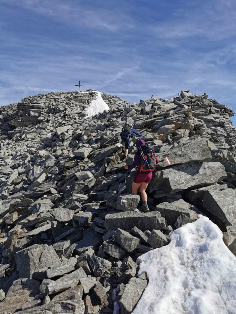 Hoher Riffler - nur noch wenige Meter mit zum Gipfel!