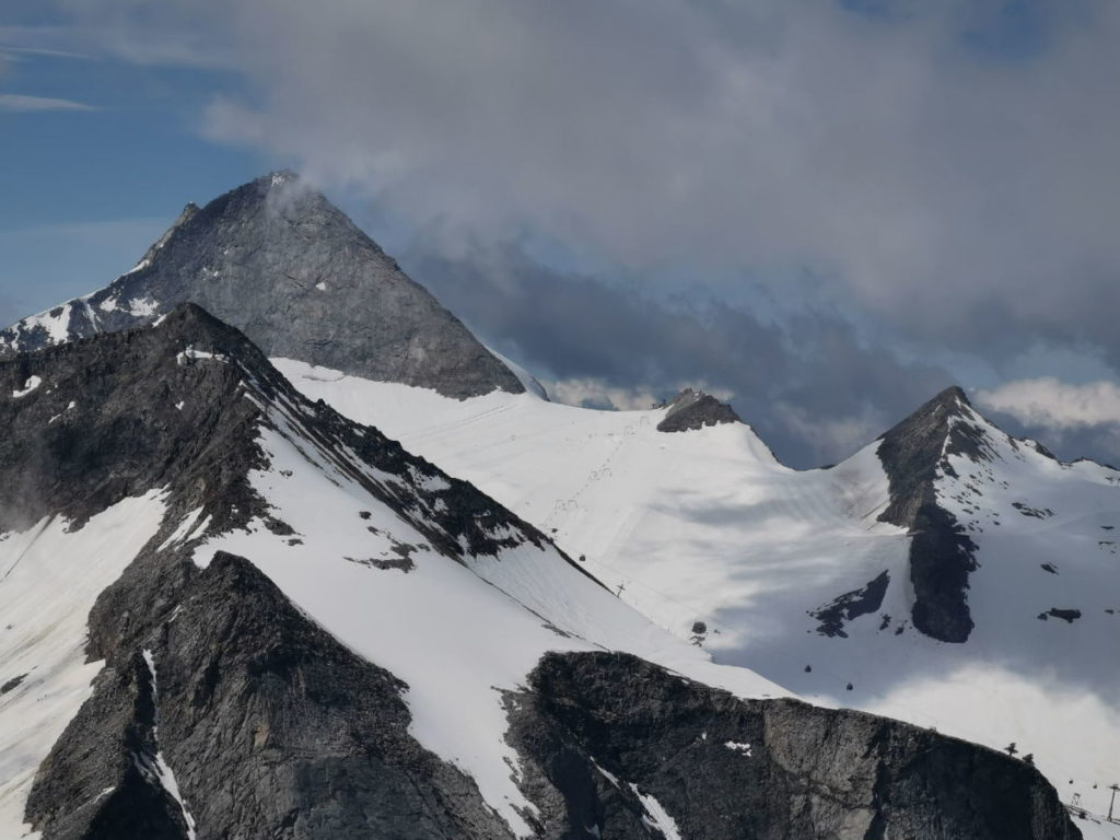Hoher Riffler Blick zum Olperer - samt dem Gletscherskigebiet