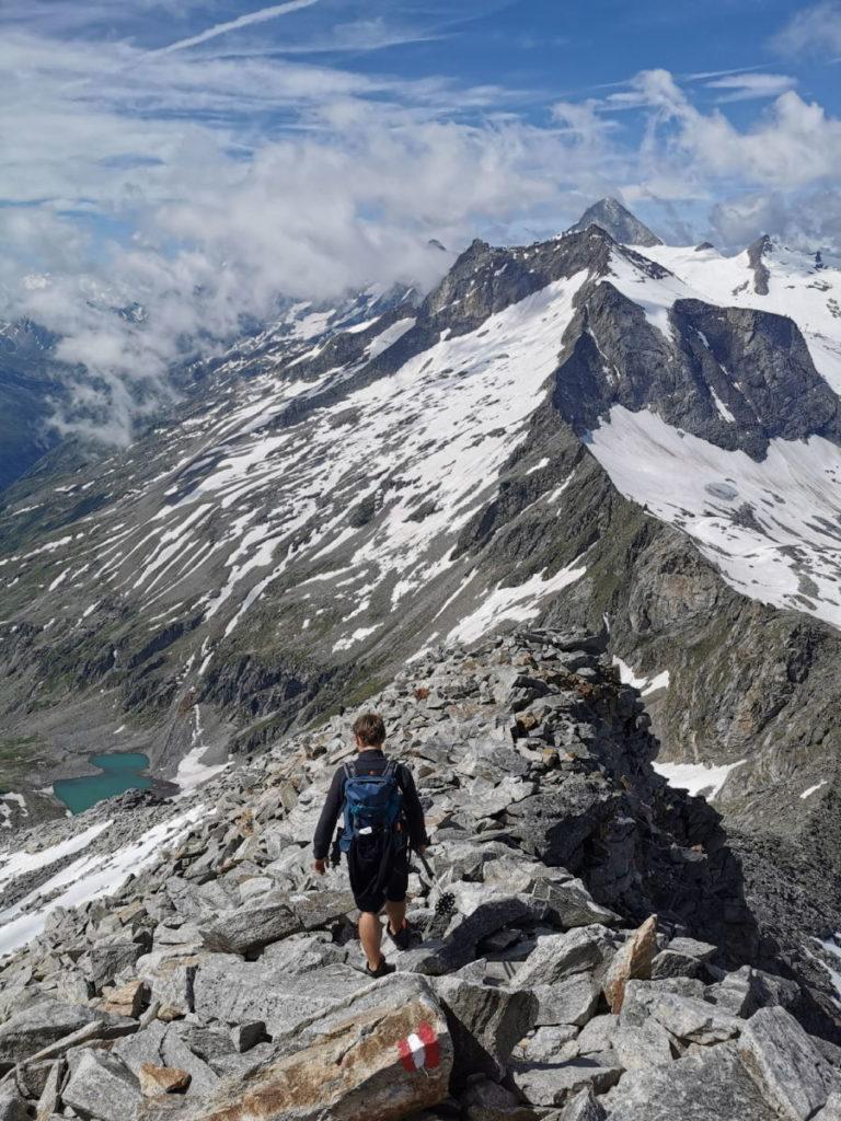 Anspruchsvoll am Schlegeisspeicher wandern - Hoher Riffler Bergtour