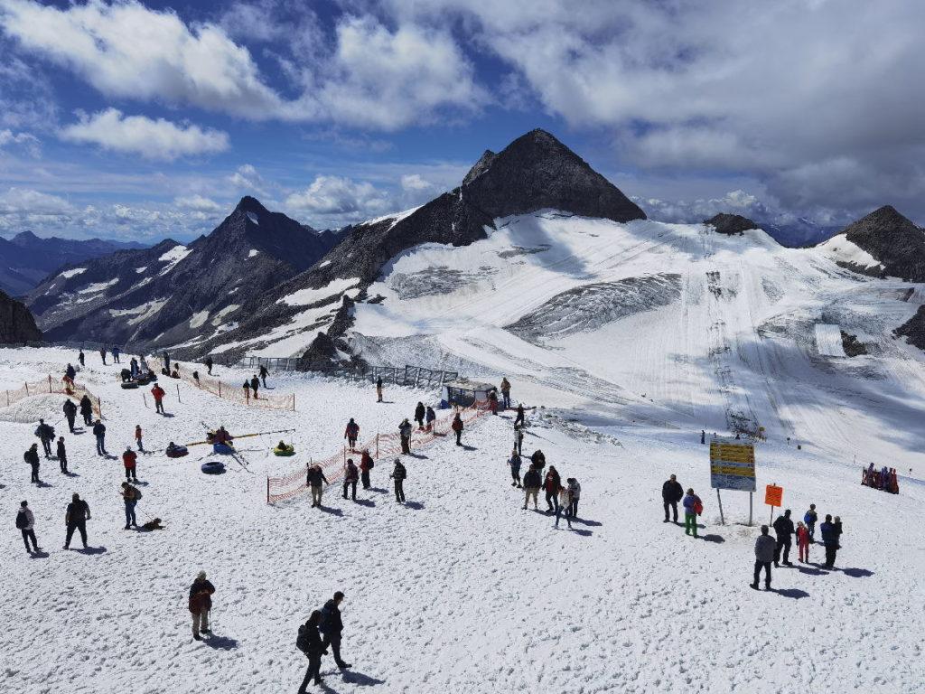 Das Gletschererlebnis im Zillertal - der Ausblick oben am höchsten Punkt