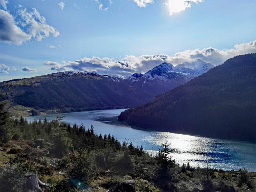Speicher Durlassboden - wie ein sehr langgezogener Fjord in den Bergen