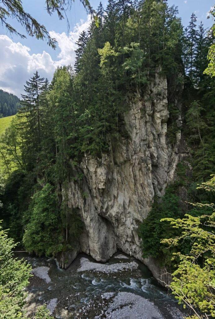 Die Zillerschlucht oberhalb von Mayrhofen