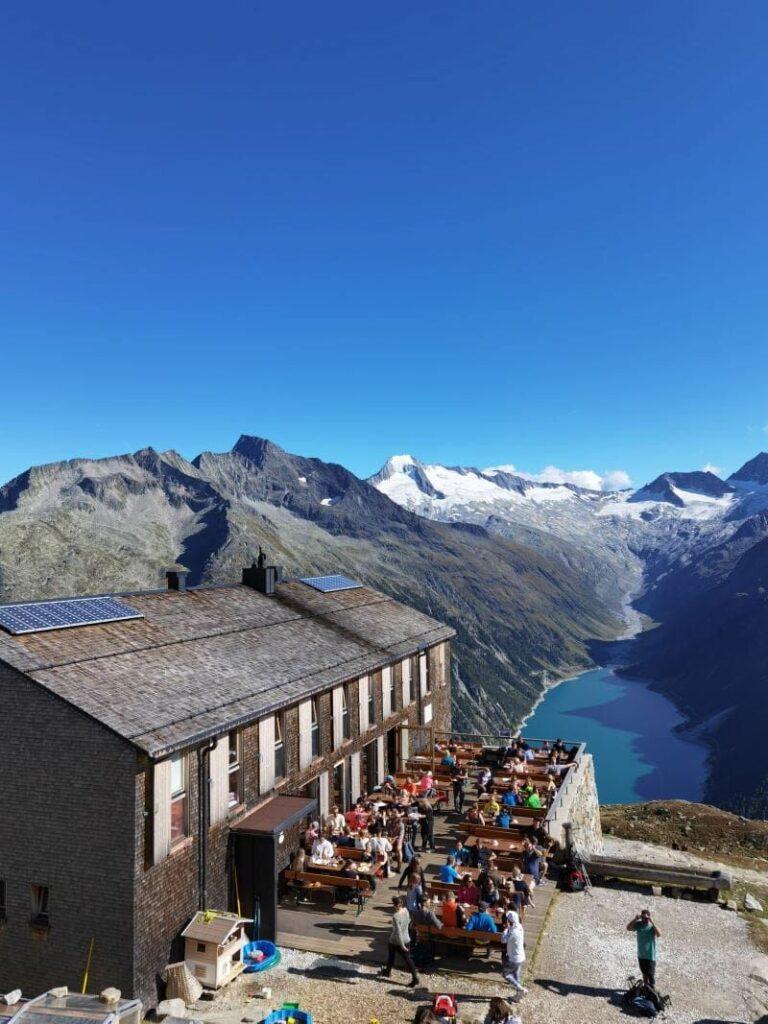 Olperer Hütte - Hotspot in den Zillertaler Alpen und leider völlig überlaufen